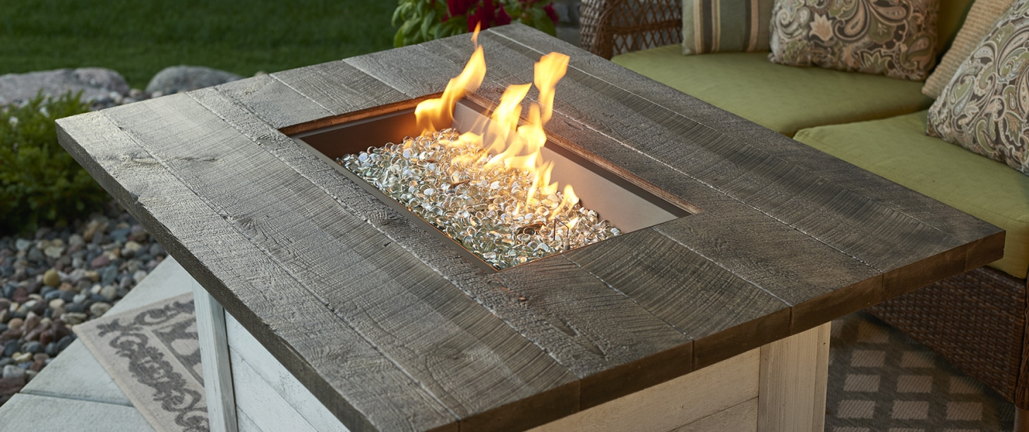 OGR Rectangular Gas Fire Pit