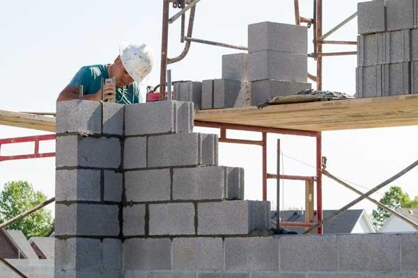 standard concrete block consturction