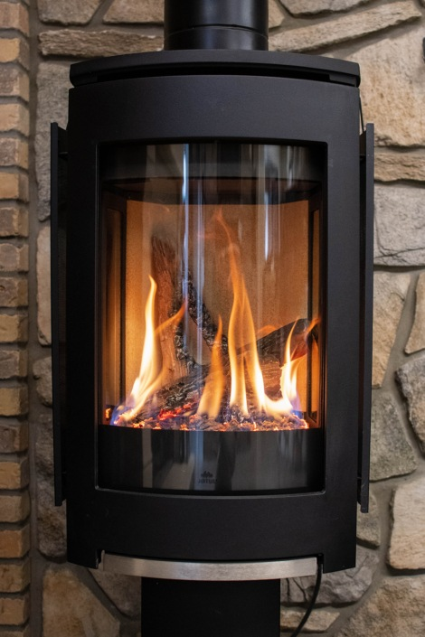 Vanderwall gas log fireplace